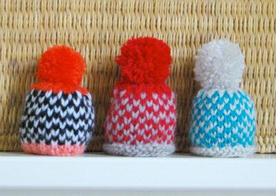 Bonnets mini-damier