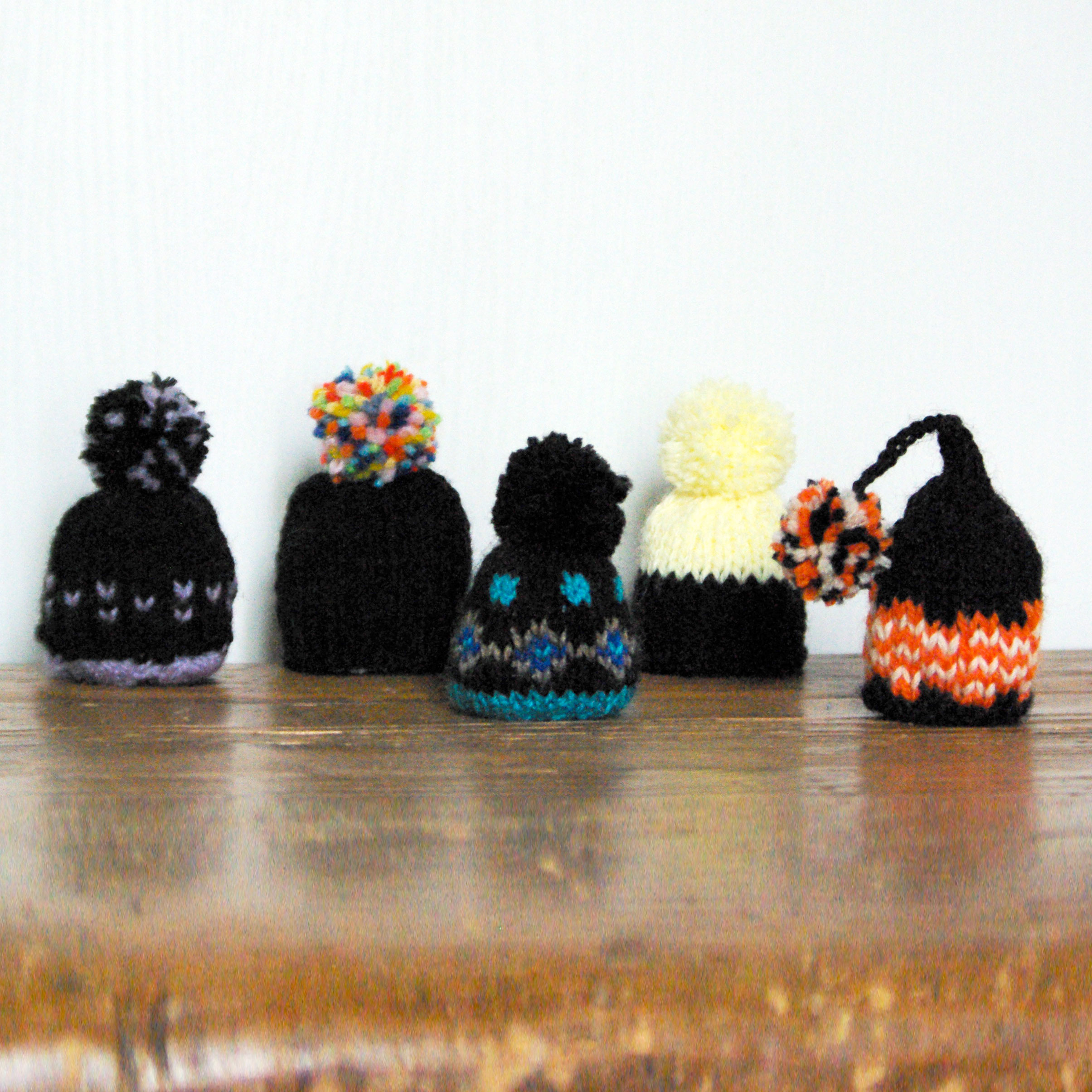 Bonnets avec du noir